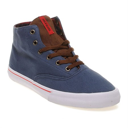 LACİVERT Erkek Oxford-Ayakkabı S49010 SUPRA NAR WRAP UP NAVY ATHLETIC RED WHITE