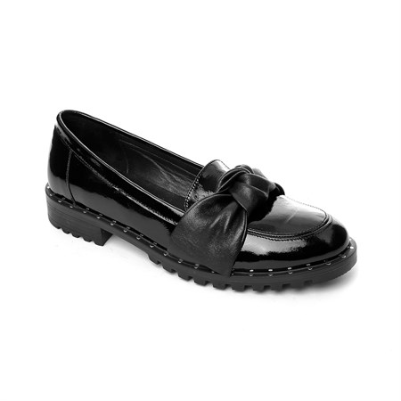 SİYAH Kadın Loafer MS- 400-102 PLTH JOHN MAY PATENT LEATHER BLACK
